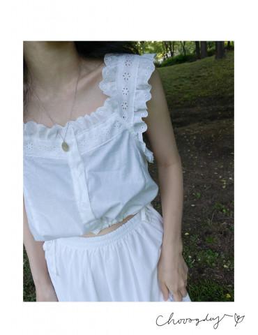 短版Lace 肩帶背心
